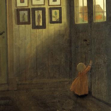 Ivar Arosenius: Flicka vid dörren NM 2644